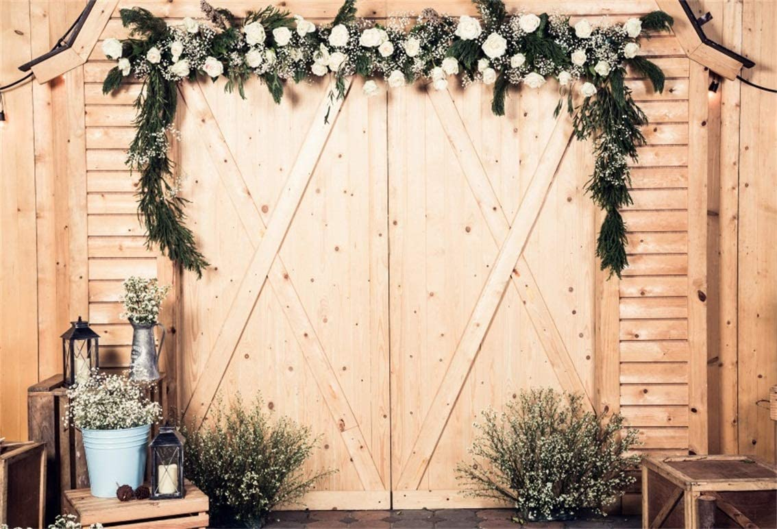 Wedding Barnyard Door Backdrop