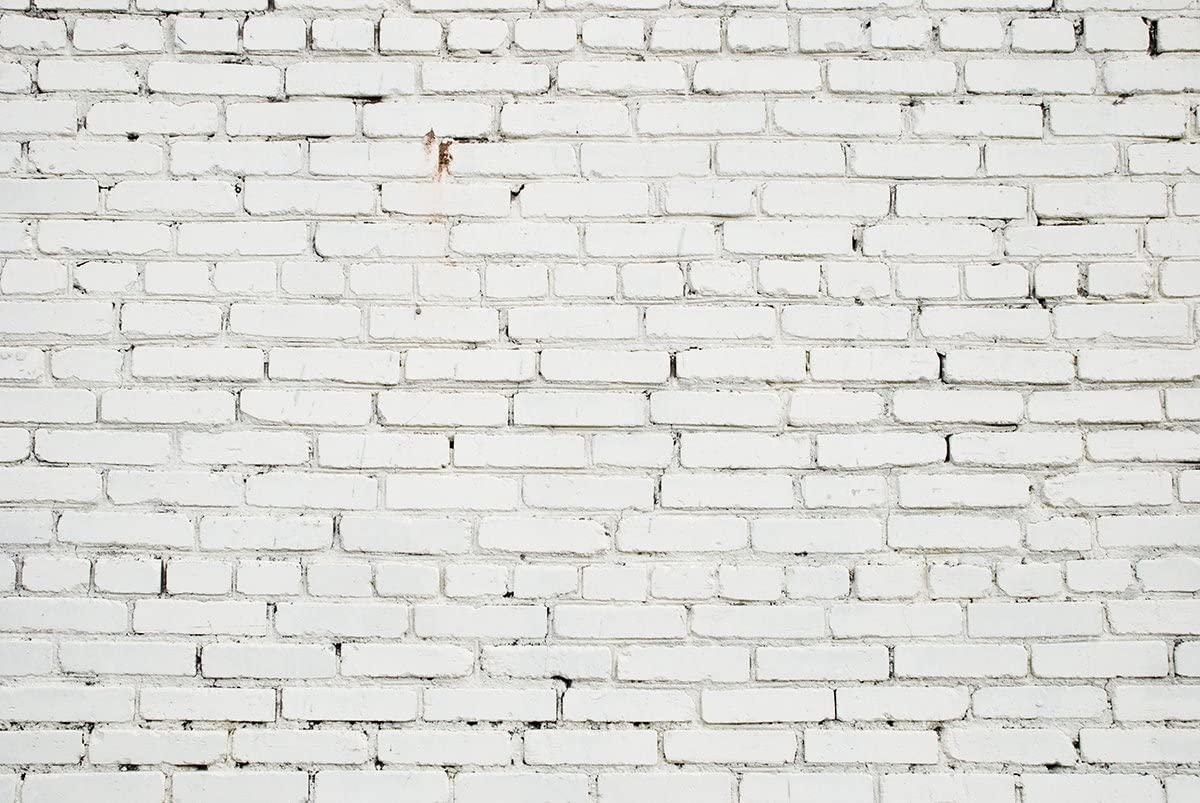 White Brick Wall Backdrop